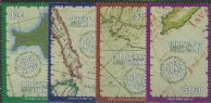 CHI SG326-9 Maps of Christmas Island set of 4